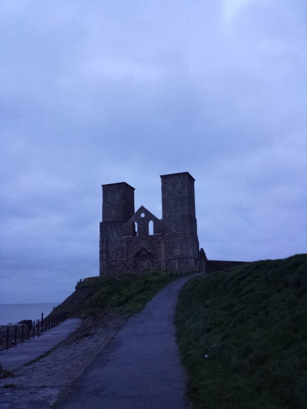 Dawn breaking at Reculver, lovely!