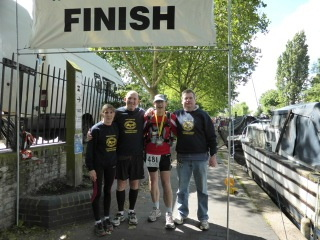 Great support crew!  From left, Jo, Jon, me & Steve.
