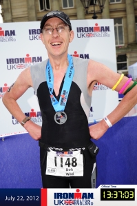 Just finished my first Ironman, no wonder I look pleased!