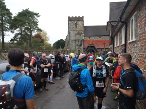 at the start line...