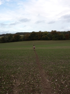 A long long downhill though a lovely big field....magic.