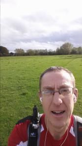 me, in a field