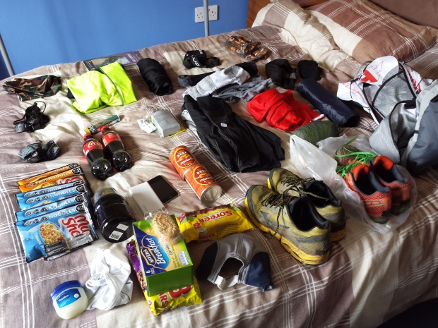 The full kit, all laid out, please note, the bed was not included on my run.