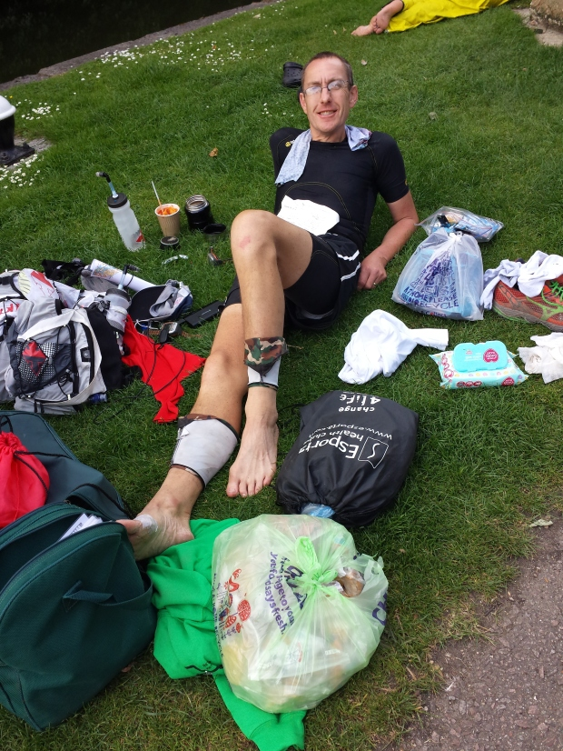 Having a lie down in the sun at cp4.  Feeling good!
