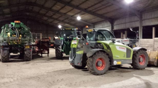 Did I mention the massive tractors?