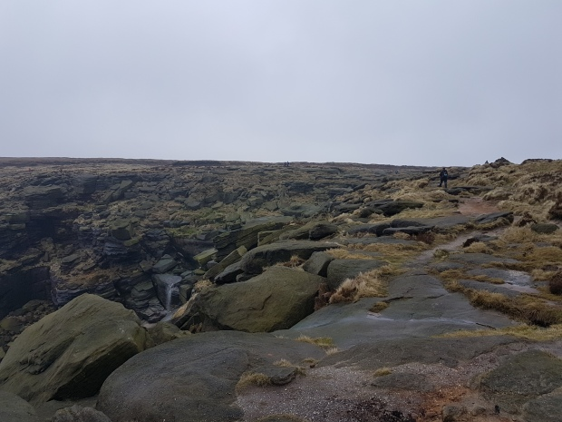 This is the approach to Kinder Downfall
